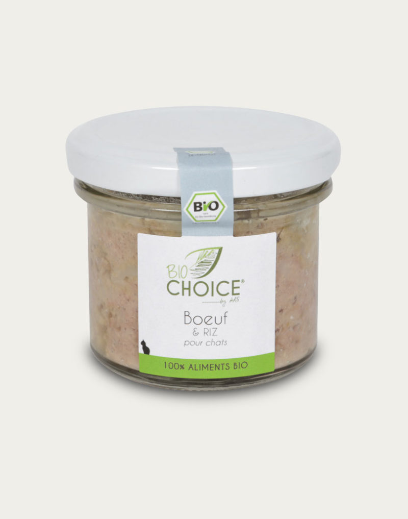 BioChoice Chat Boeuf & Riz bocal 100g